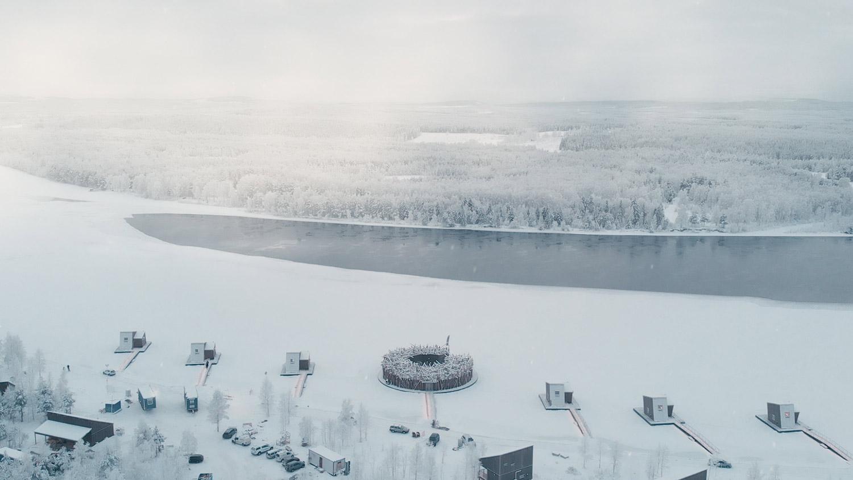 Arctic Bath i vinterskrud